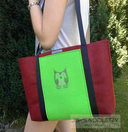 City-Shopper mit Strass - Eule
